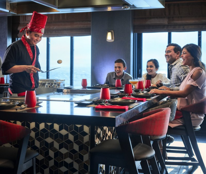 Teppanyaki on Norwegian Cruise