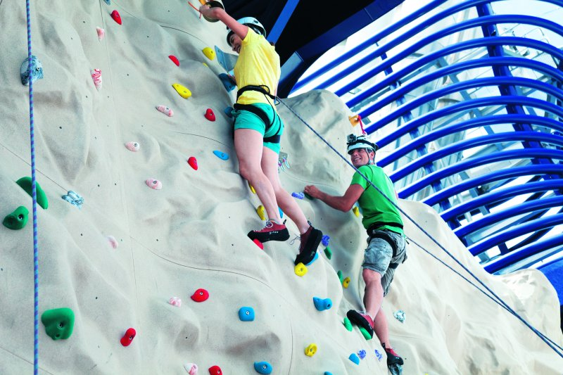 Rock climing wall on Epic